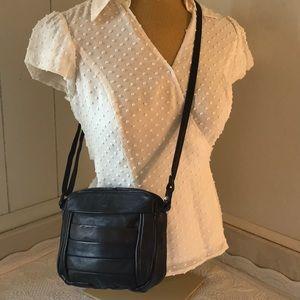 VINTAGE Kuang Huei Leather Mini Crossbody Brown